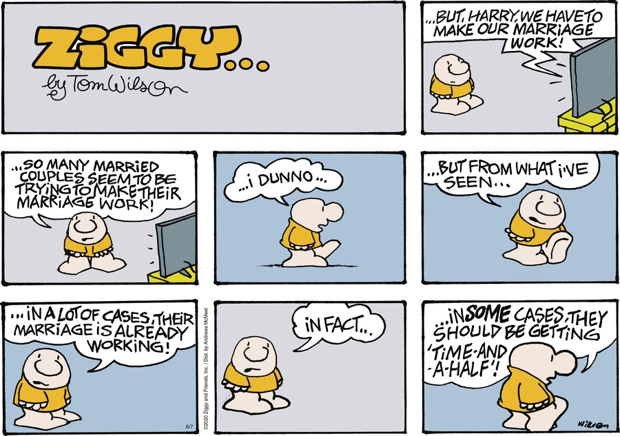 Ziggy Comic Strip for June 07, 2020
