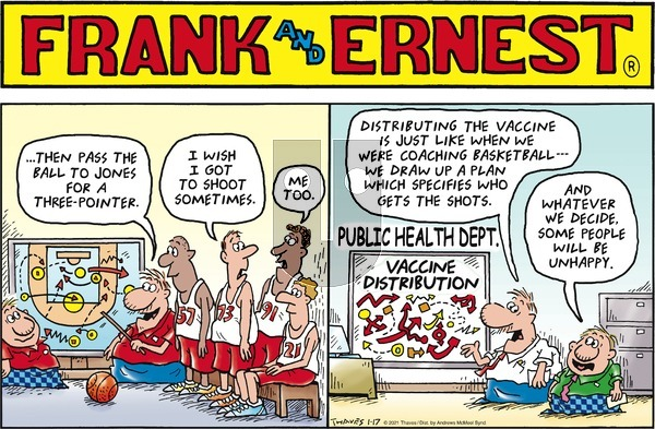 Frank and Ernest on Sunday January 17, 2021 Comic Strip