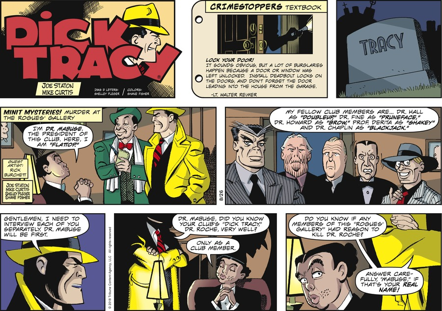 Dick Tracy Comic Strip for August 26, 2018