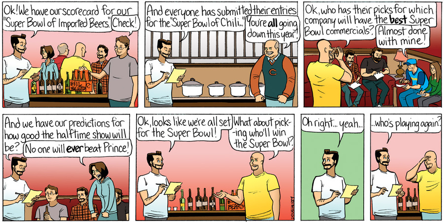 Beardo for Feb 3, 2013 Comic Strip