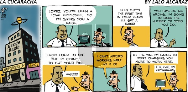 La Cucaracha on Sunday August 21, 2016 Comic Strip
