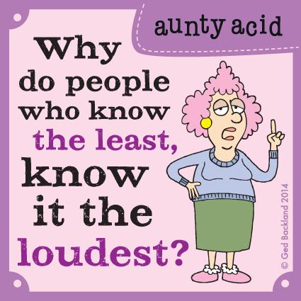 Aunty Acid for Aug 31, 2014 Comic Strip