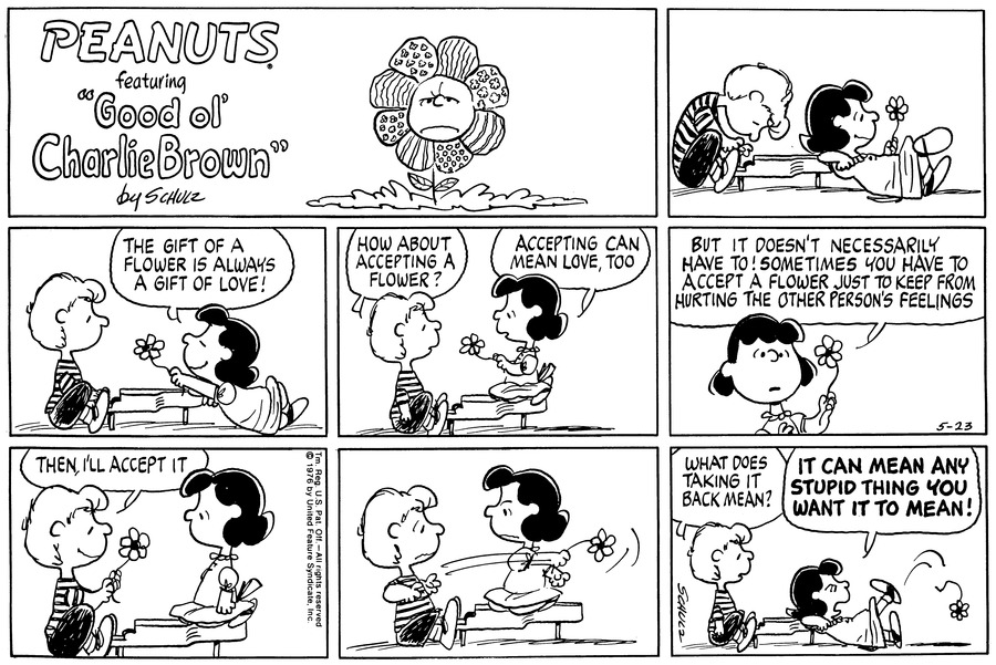 Peanuts Comic Strip for May 23, 1976