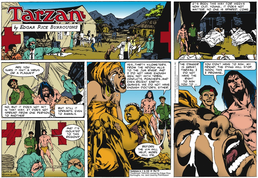 Tarzan Comic Strip for January 06, 2002