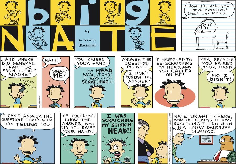 Big Nate Comic Strip for October 07, 2018