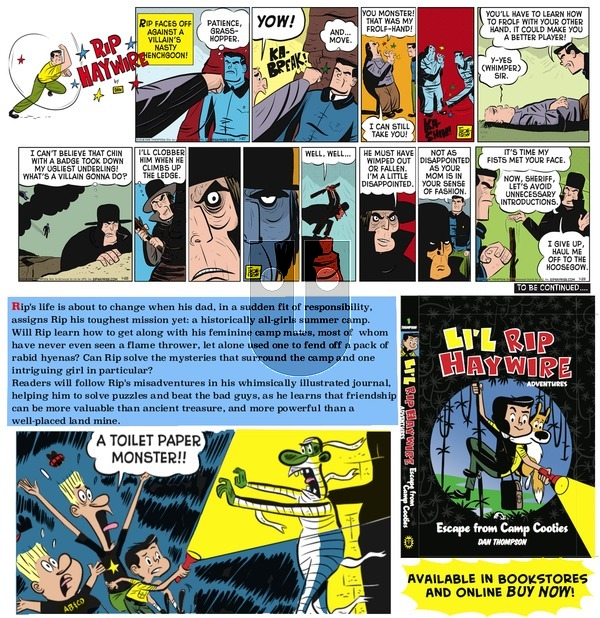 Rip Haywire on Sunday April 3, 2016 Comic Strip