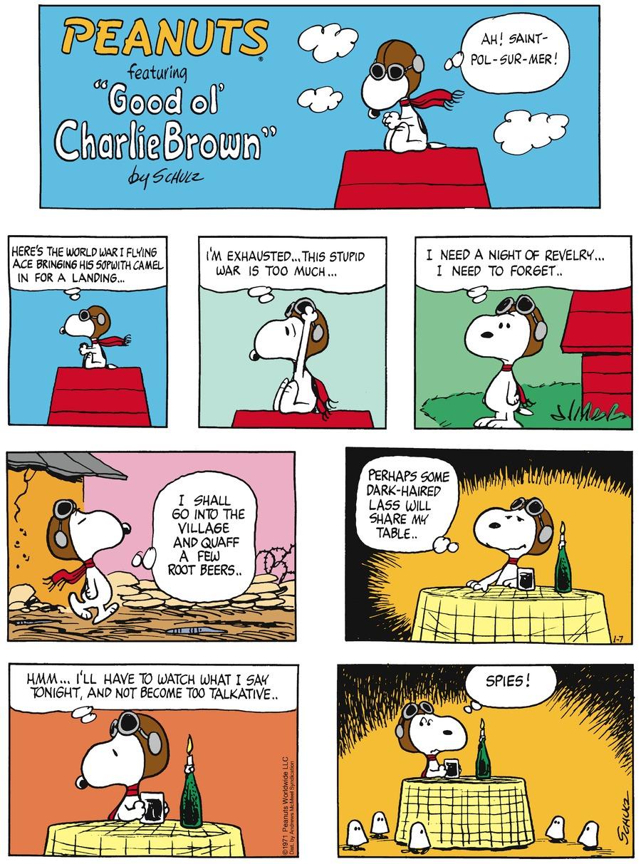 Peanuts Comic Strip for January 07, 2018