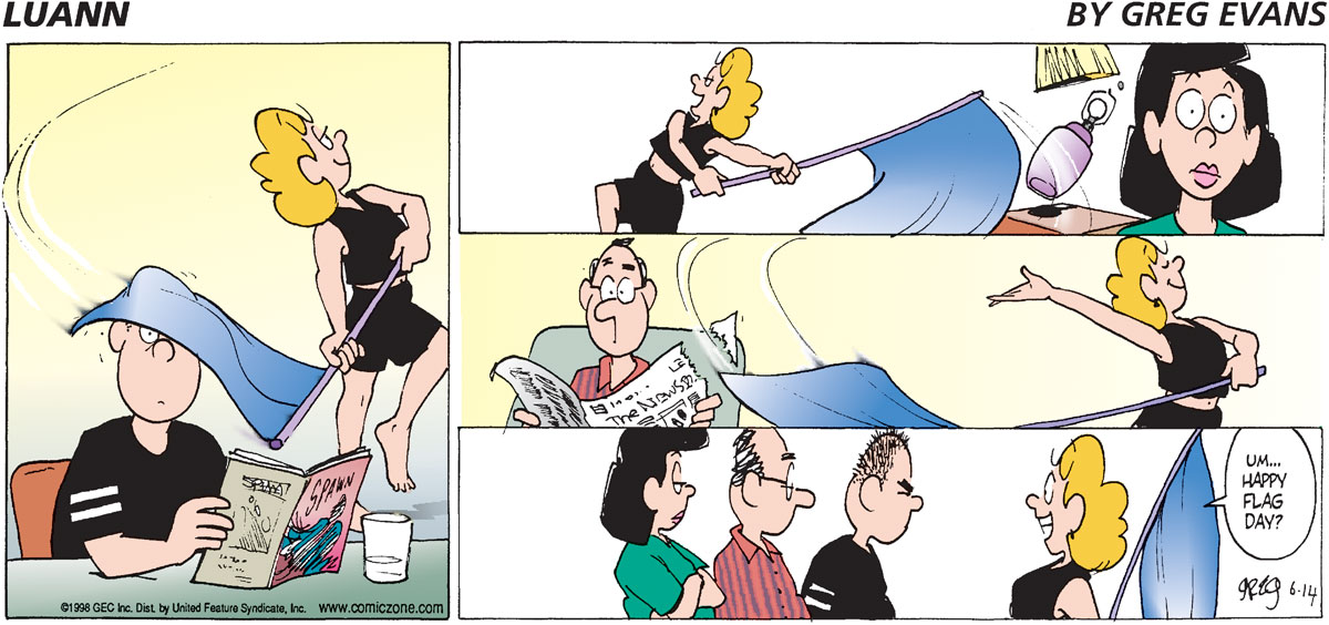 Luann Comic Strip for June 14, 1998