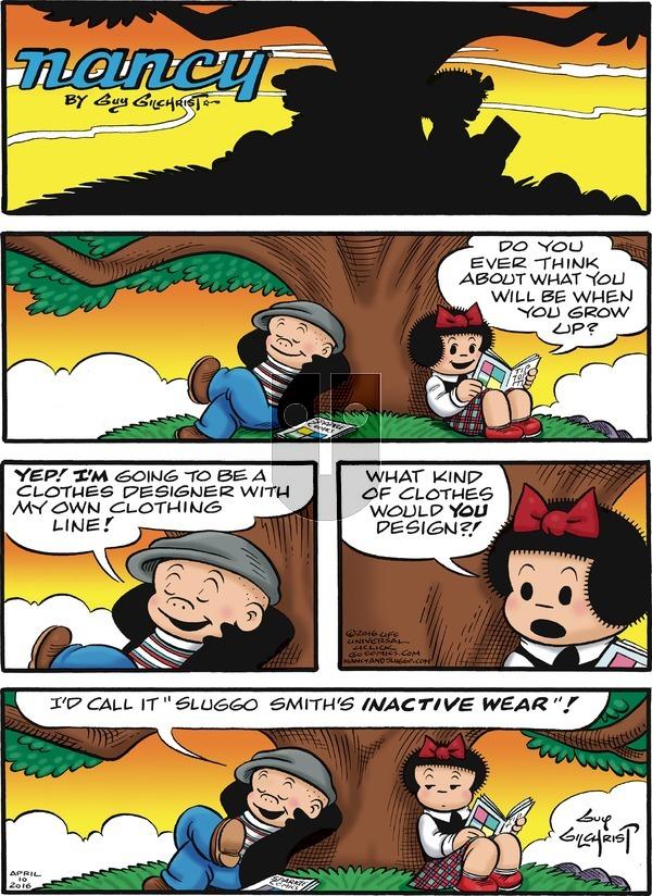 Nancy on Sunday April 10, 2016 Comic Strip