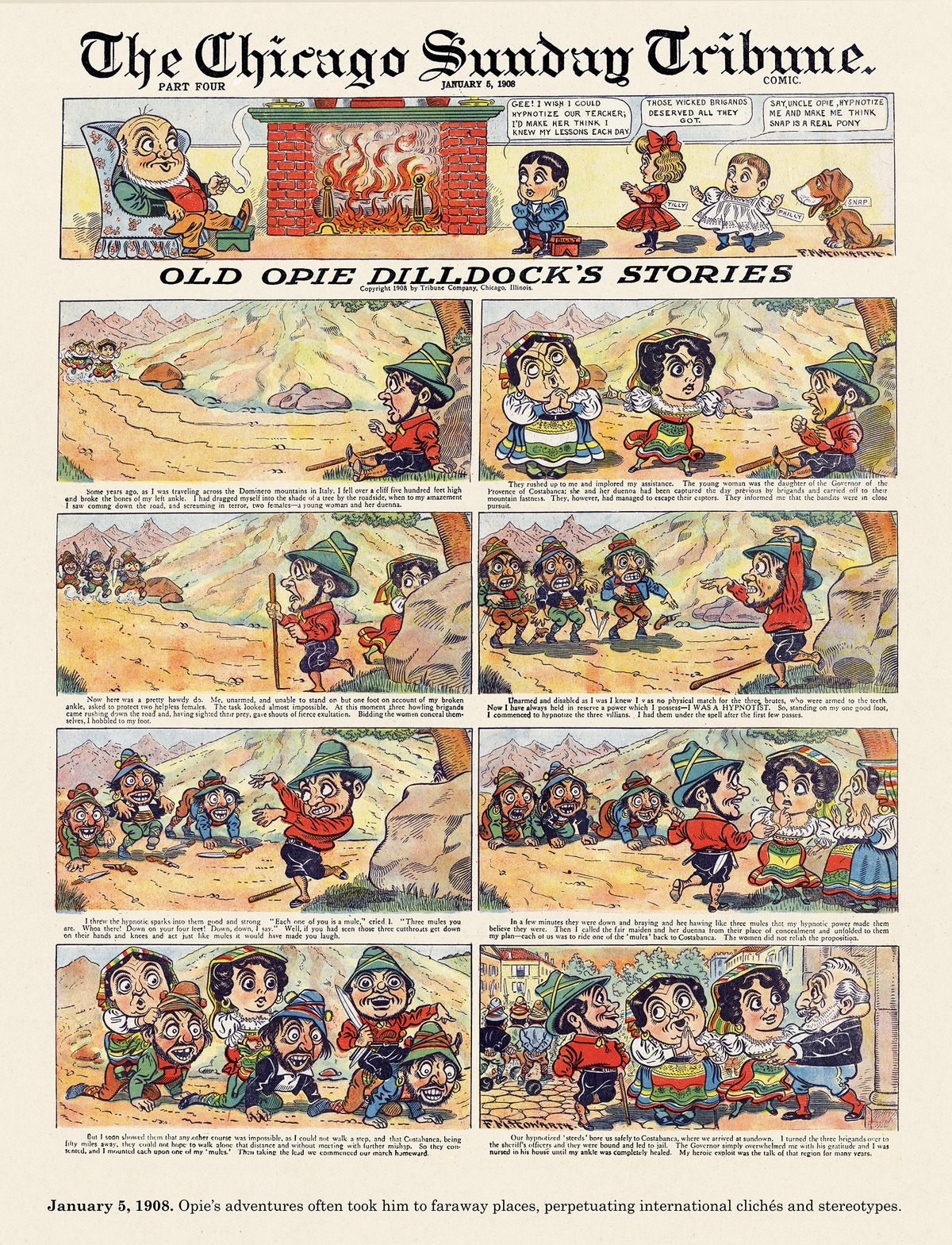Origins of the Sunday Comics Comic Strip for August 02, 2021