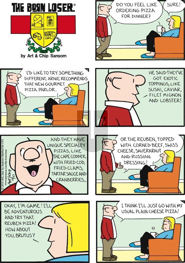 The Born Loser - Sunday October 27, 2019 Comic Strip