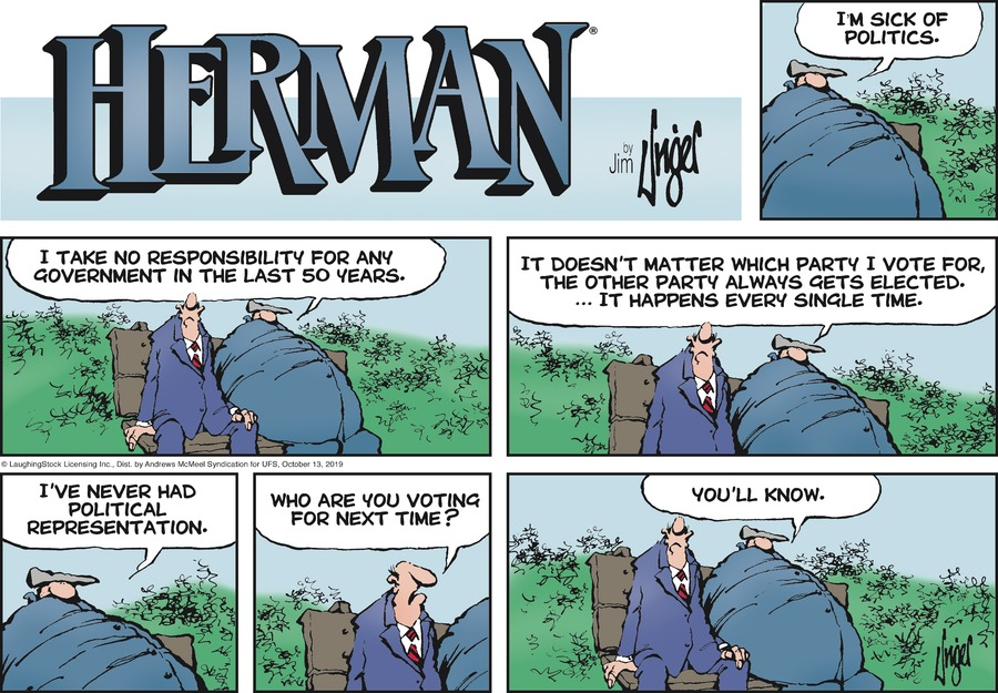 Herman Comic Strip for October 13, 2019