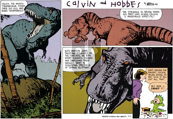 Calvin and Hobbes - Sunday October 31, 1993 Comic Strip