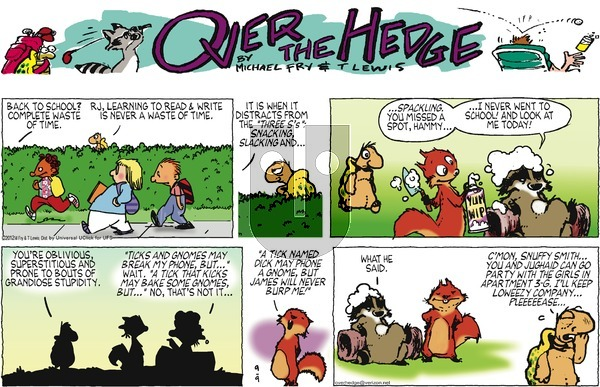 Over the Hedge on Sunday September 9, 2012 Comic Strip