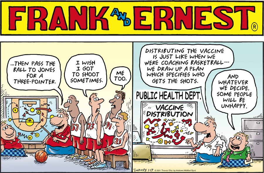 Frank and Ernest Comic Strip for January 17, 2021