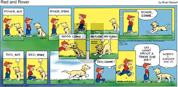 Red and Rover on Sunday April 26, 2020 Comic Strip