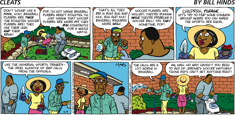 Cleats for May 09, 2004 Comic Strip