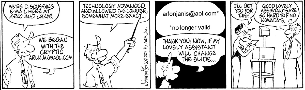 Arlo and Janis for May 30, 2001 Comic Strip
