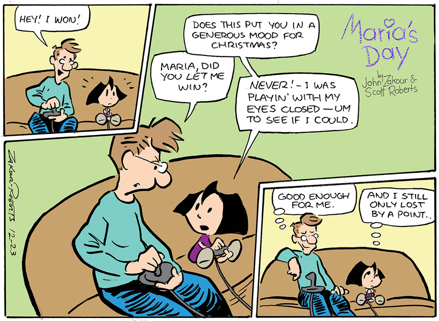 Maria's Day for Dec 23, 2012 Comic Strip