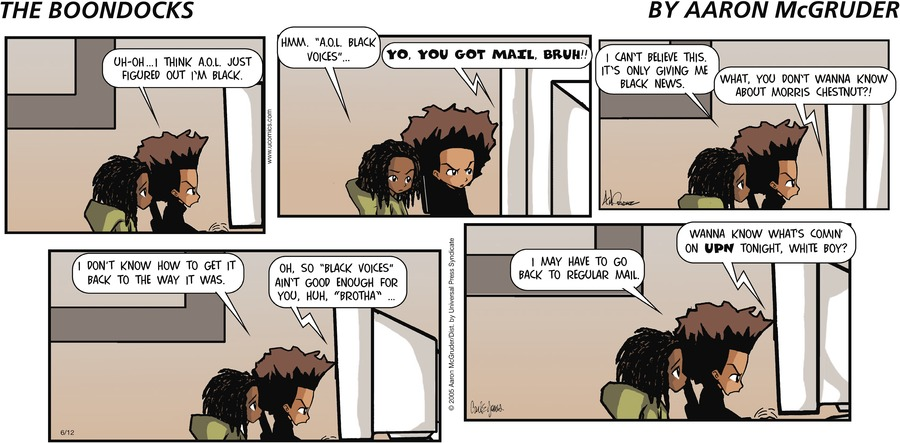 The Boondocks Comic Strip for August 23, 2020