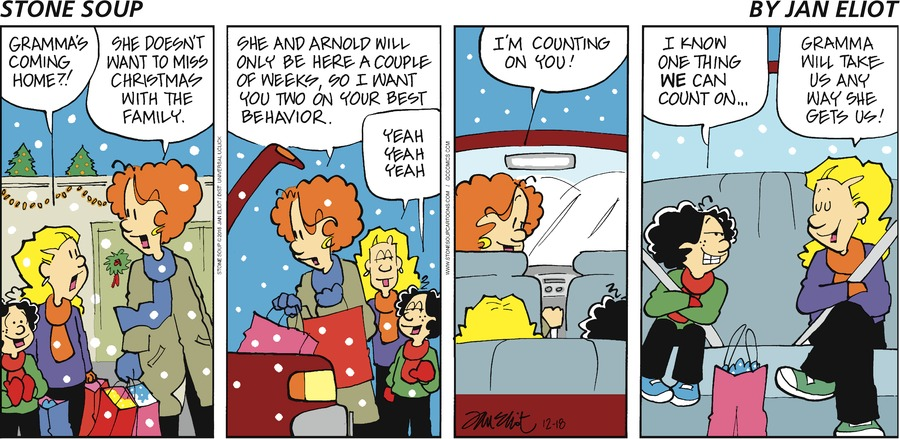Stone Soup Comic Strip for December 18, 2016