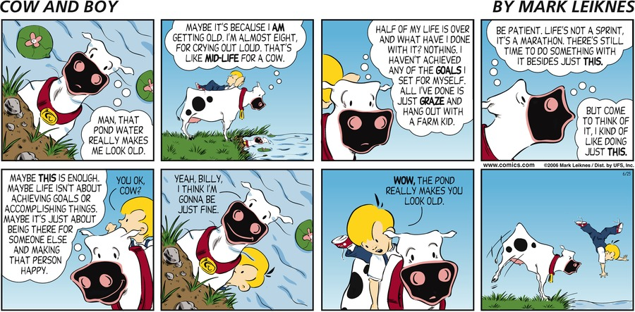 Cow and Boy Classics for Jun 25, 2006 Comic Strip