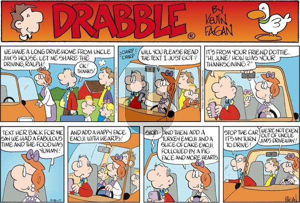 Drabble on Sunday November 26, 2017 Comic Strip
