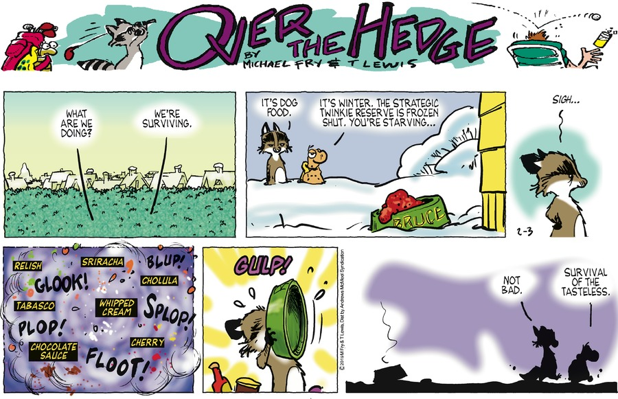 Over the Hedge Comic Strip for February 03, 2019