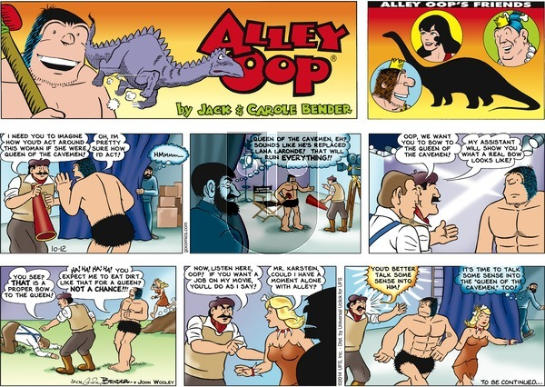 Alley Oop on Sunday October 12, 2014 Comic Strip