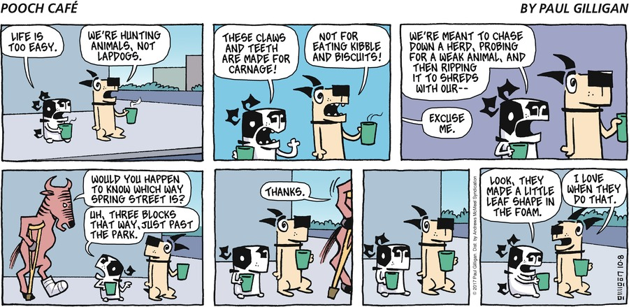 Pooch Cafe for Oct 8, 2017 Comic Strip