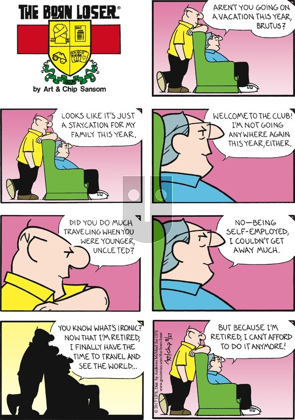 The Born Loser on Sunday August 27, 2017 Comic Strip