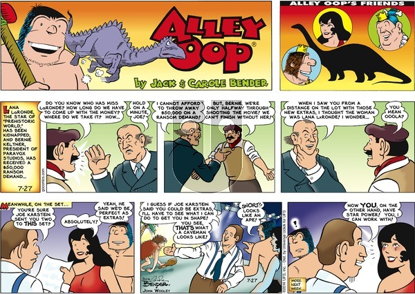 Alley Oop on Sunday July 27, 2014 Comic Strip