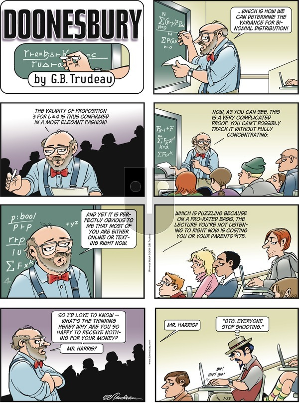 Doonesbury - Sunday January 23, 2011 Comic Strip