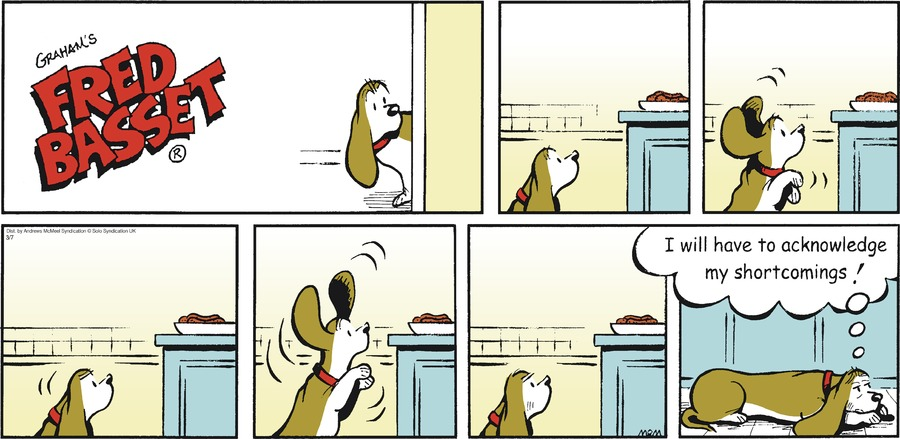 Fred Basset Comic Strip for March 07, 2021