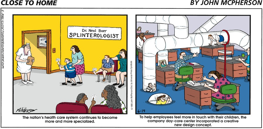 Close to Home for Jun 14, 1998 Comic Strip