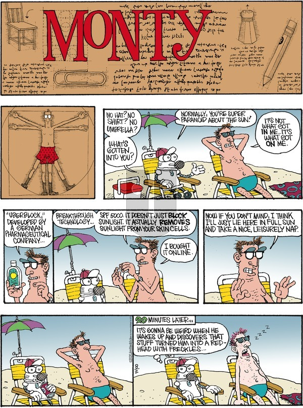 Monty on Sunday August 2, 2020 Comic Strip