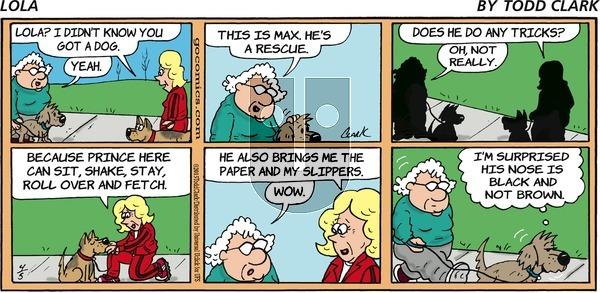 Lola on Sunday April 5, 2015 Comic Strip