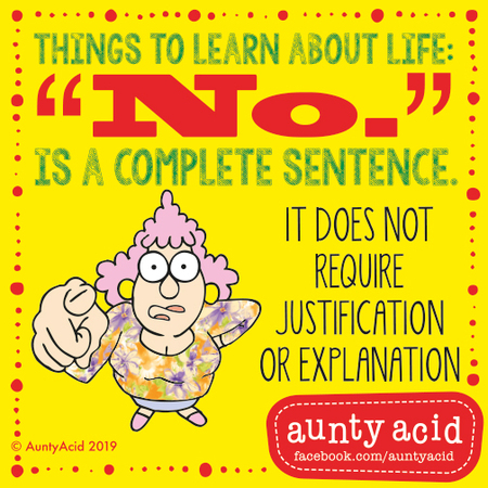 Aunty Acid by Ged Backland for March 08, 2019