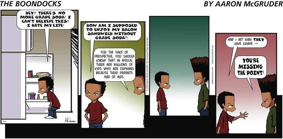 The Boondocks Comic Strip for June 09, 2002