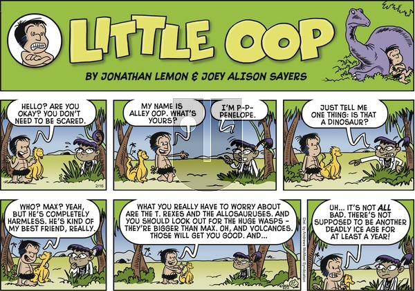 Alley Oop on Sunday February 16, 2020 Comic Strip