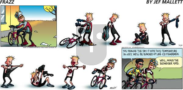 Frazz on Sunday March 20, 2005 Comic Strip