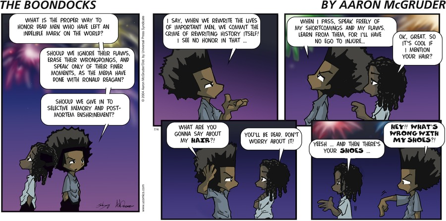 The Boondocks by Aaron McGruder for September 15, 2019