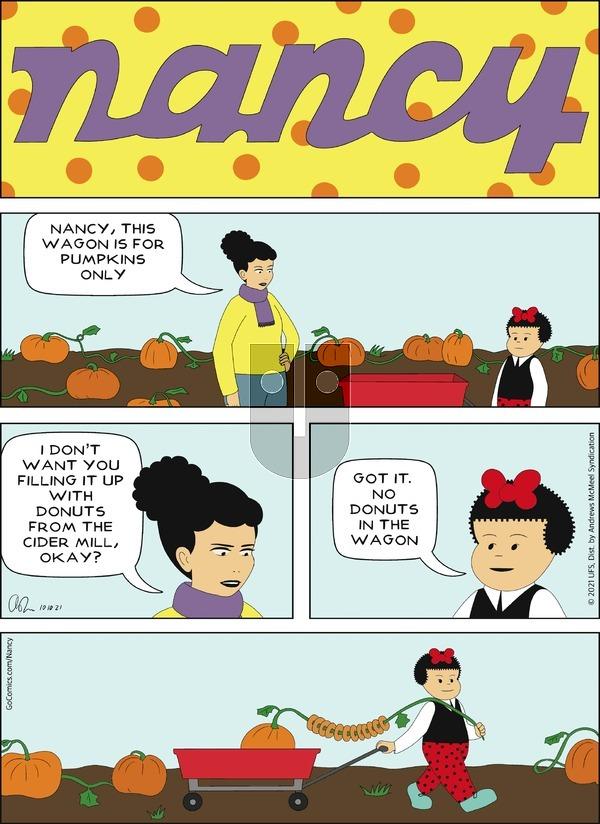 Nancy on Sunday October 10, 2021 Comic Strip