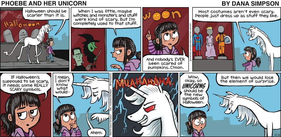 Phoebe and Her Unicorn Comic Strip for October 21, 2018