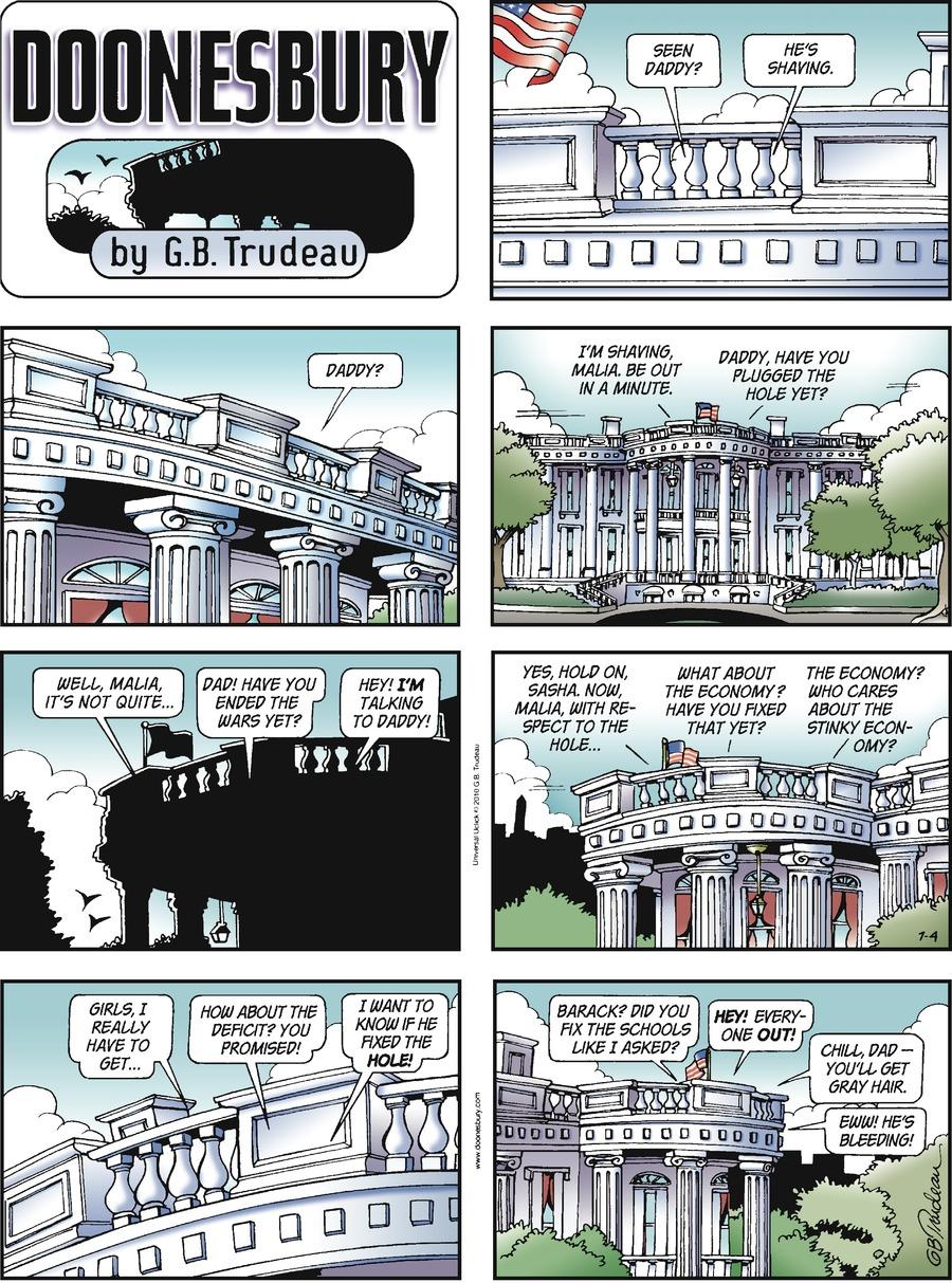 Doonesbury Comic Strip for July 04, 2010