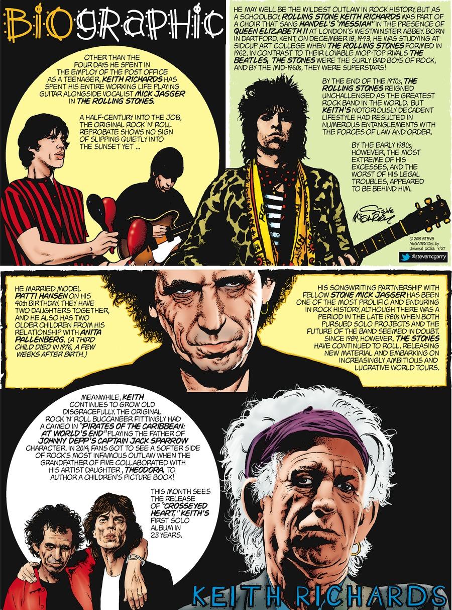 Biographic Comic Strip for September 27, 2015