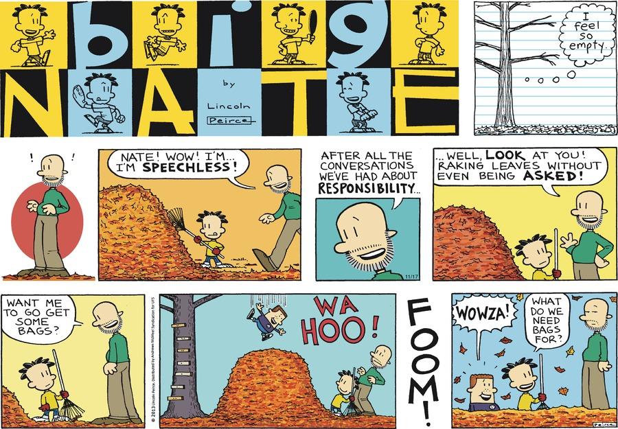 Big Nate Comic Strip for November 17, 2019