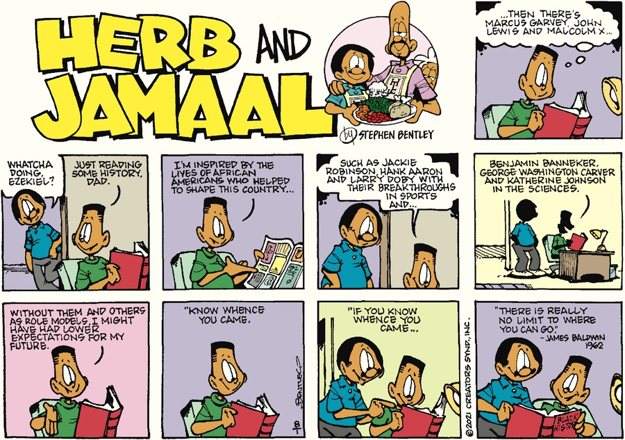 Herb and Jamaal Comic Strip for August 01, 2021