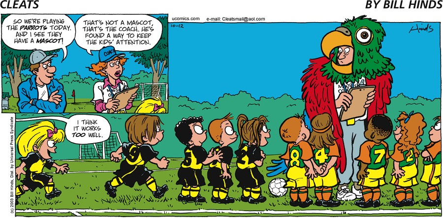 Cleats Comic Strip for October 12, 2003