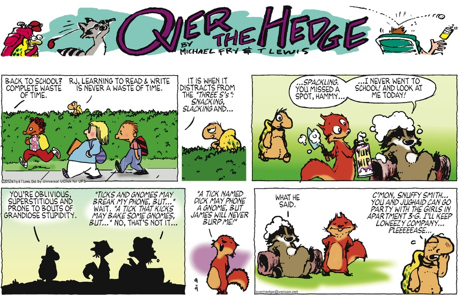 Over the Hedge for Sep 9, 2012 Comic Strip
